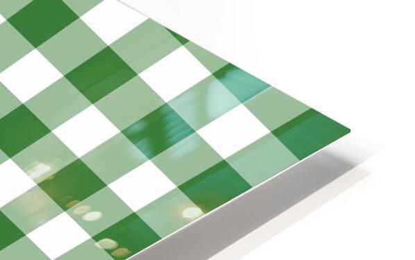 Green Plaid Pattern HD Sublimation Metal print