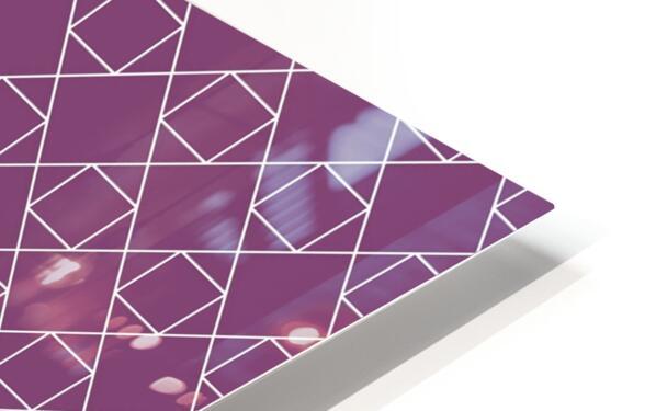 Light Purple Squares And Diamonds Pattern HD Sublimation Metal print