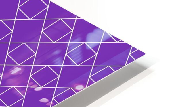 Purple Squares And Diamonds Pattern HD Sublimation Metal print