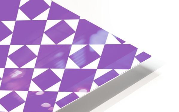 Purple Geometric Pattern HD Sublimation Metal print