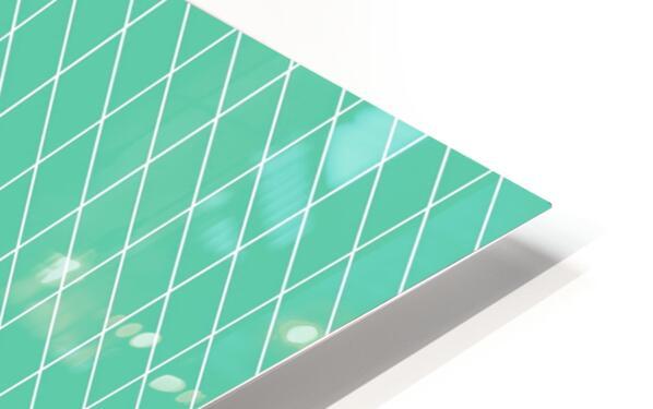 Aquamarine Checkers Pattern HD Sublimation Metal print