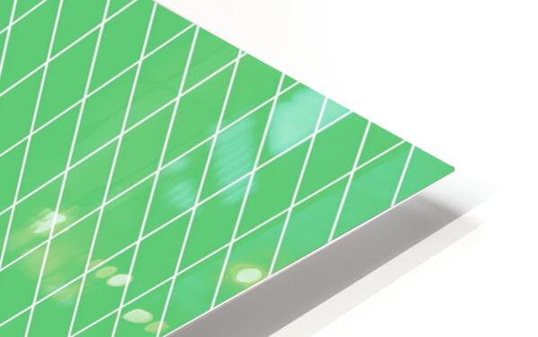 Green Color Checkers Pattern HD Sublimation Metal print