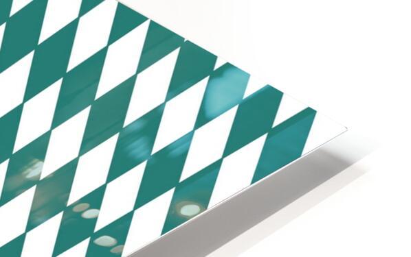 Dark Green Checkers Pattern HD Sublimation Metal print