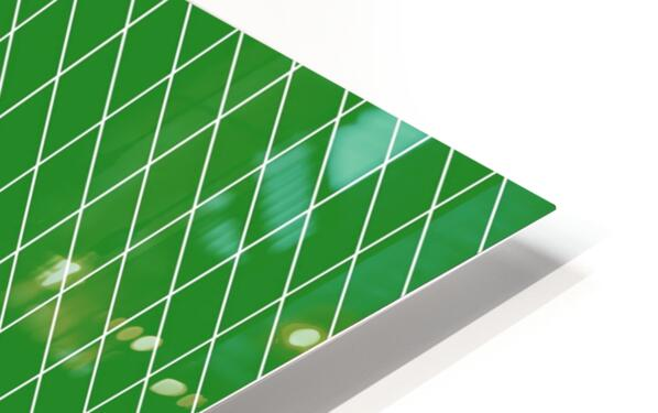 Green Checkers Pattern HD Sublimation Metal print