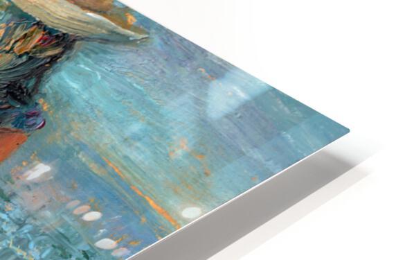 Woman on a Twilight Beach HD Sublimation Metal print