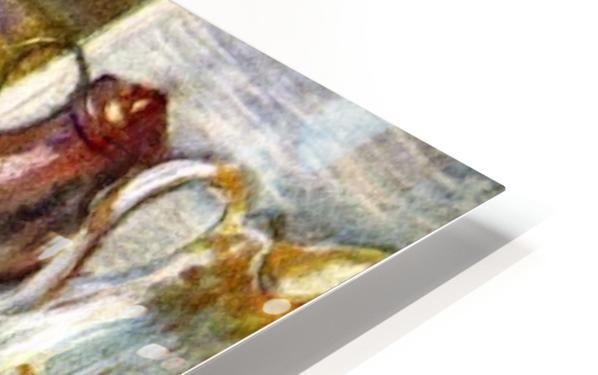 Woman washing in the tub by Degas HD Sublimation Metal print