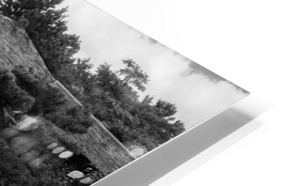 Black White Pond HD Sublimation Metal print