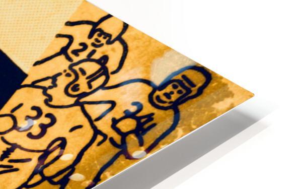 1938 Iowa Hawkeyes Football Ticket Remix Art HD Sublimation Metal print