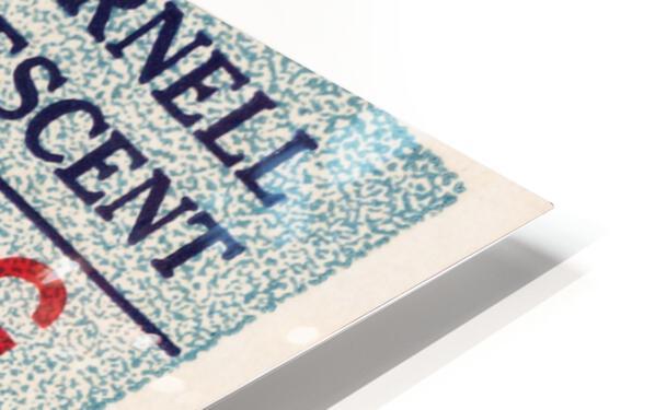1935 Columbia vs. Cornell Football Ticket Art HD Sublimation Metal print