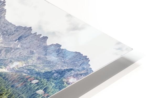 Turquoise Lake HD Sublimation Metal print