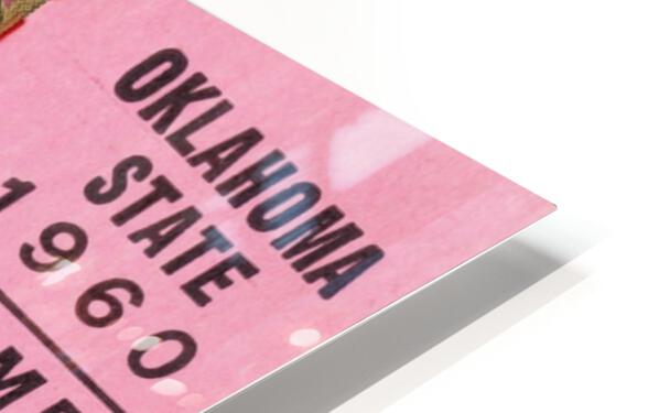 1960 Arkansas Razorbacks vs. Oklahoma State Cowboys HD Sublimation Metal print