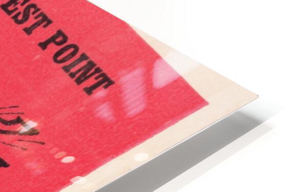 1965 Army vs. Rutgers Football Ticket Art HD Sublimation Metal print