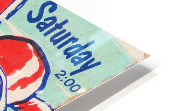 1956 Georgia Tech vs. Auburn Football Ticket Stub Art HD Sublimation Metal print