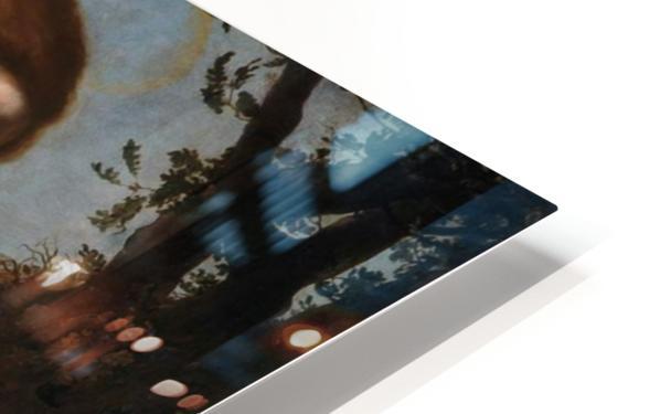 San Giuseppe mostra la croce a Gesu Bambino HD Sublimation Metal print