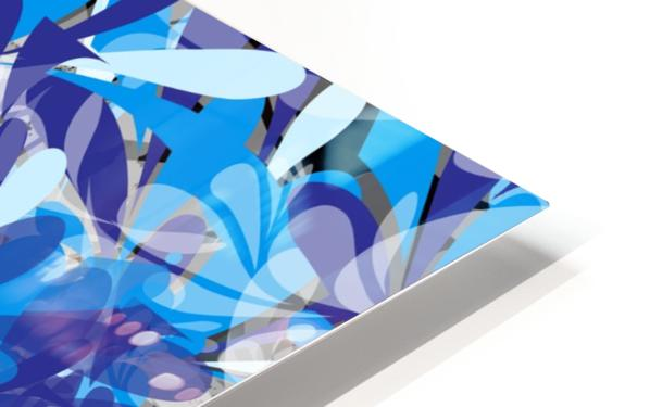 Abstract Floral HD Sublimation Metal print