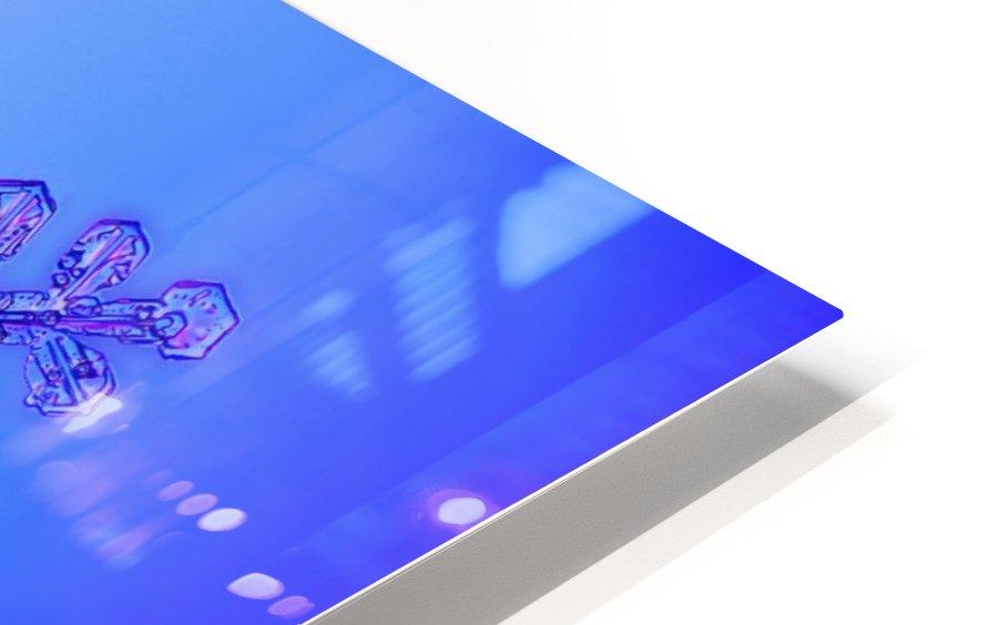 Photomicroscopic close up of two snowflake crystals, Alaska HD Sublimation Metal print