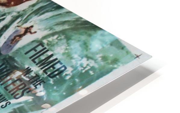 Original Vintage Surfing Movie Poster - Ride The Wild Surf HD Sublimation Metal print
