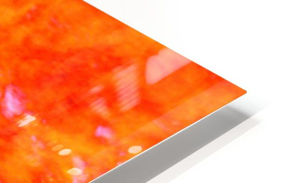 The Flock Orange HD Sublimation Metal print