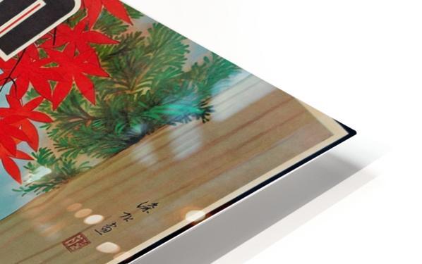Japan Autumn in Nikko travel poster HD Sublimation Metal print