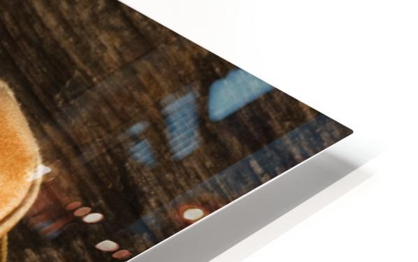 Baseball Glove And Baseball HD Sublimation Metal print
