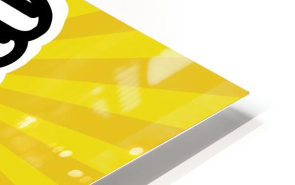 Compact Fluorescent Lightbulb HD Sublimation Metal print