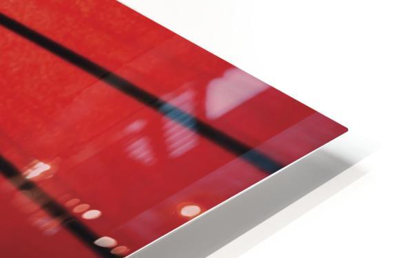 Japanese red umbrella; Kyoto, Japan Impression de sublimation métal HD