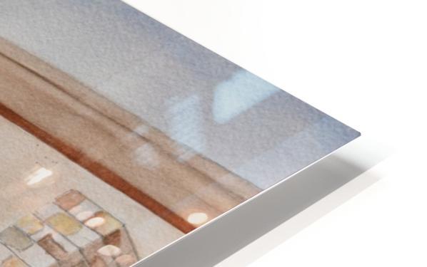 Back Patio HD Sublimation Metal print