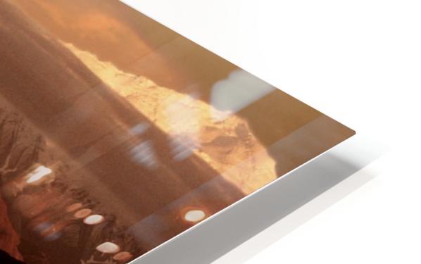 Moose Kissing HD Sublimation Metal print