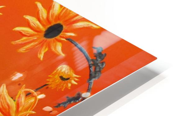 Sunflowers & Prickly Poppies HD Sublimation Metal print