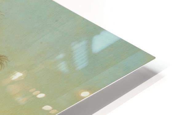 Oasis pres des pyramides HD Sublimation Metal print