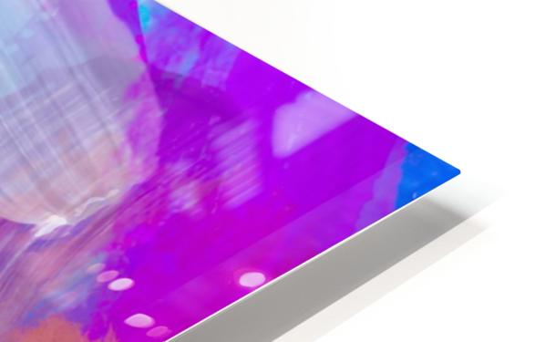 pink brown purple blue painting abstract background HD Sublimation Metal print