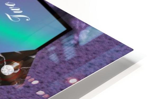A2TwoDiamondsCard HD Sublimation Metal print