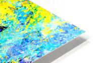 psychedelic geometric abstract pattern in yellow and blue HD Metal print