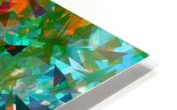 psychedelic geometric abstract pattern in green blue orange HD Metal print