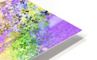 flower pattern abstract background in purple yellow blue green HD Metal print