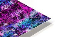 psychedelic abstract art pattern texture background in pink blue black HD Metal print