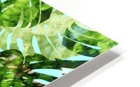 Watercolor leaves tropical I HD Metal print