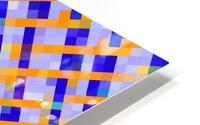 geometric pixel square pattern abstract background in orange blue purple HD Metal print