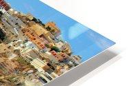 Santorini Mountains Landscape - Greece HD Metal print