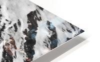 The Beach - Ocean waves in Black and White HD Metal print