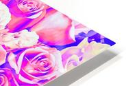 bouquet of roses texture pattern abstract in pink and purple HD Metal print