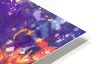 The Flow Purple and Orange Abstract HD Metal print