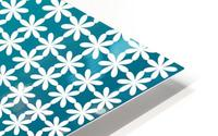 Floral Gradient Seamless Pattern Artwork HD Metal print