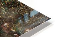 Gold Turquoise Mountain - Illustration I HD Metal print