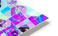 geometric square pattern abstract in purple blue HD Metal print