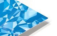 geometric triangle pattern abstract in blue HD Metal print