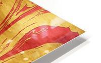Red Dragon Marble HD Metal print