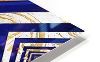 Geometric Gold Dark Blue Marble HD Metal print