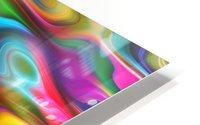 Abstract Colorful Waves HD Metal print