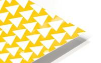 Yellow  White triangle HD Metal print